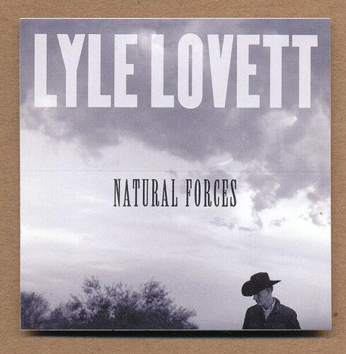 Lyle Lovett Natural Forces RARE promo sticker 2009