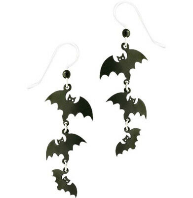 Sienna Sky Halloween Bat Family Pierced Earrings ~Made in USA~ with Gift Box