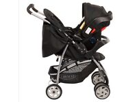 Graco mirage travel system pushchair, stroller, buggy with car seat