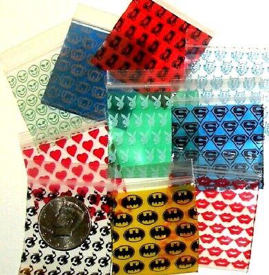 100 Apple Baggies 2 X 2 Mixed Designs Reclosable Ziplock Bags 2020