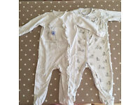 Next girls sleepsuits - size 12-18 months