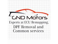 GND Motors experts at ECU Remapping, DPF Removal and common services in London