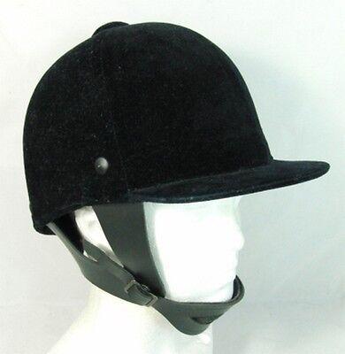 Horse Riding Equestrian Hat Helmet Black Velvet