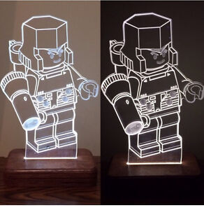 LED transformer Lego night light minifig