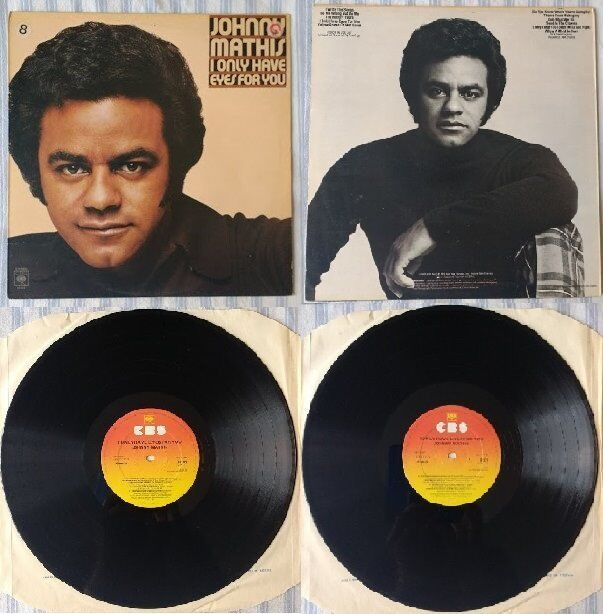 "8 x Johnny Mathis 12"" vinyl records/LPs, 9 discs in total, £35 ONO ..."