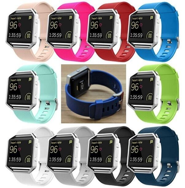 For Fitbit Blaze Band Watch Replaces Silicone Rubber Watchband Sport Watch Strap Fit Tech Parts & Accessories