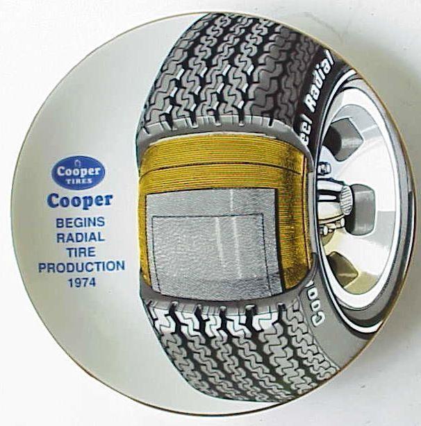 Vintage Cooper Tire 1992 Plate