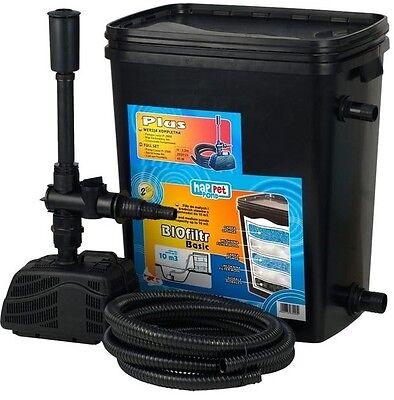 Gartenteichfilter Teichfilter für Teiche bis 5000 Liter m. Pumpe und Schlauch