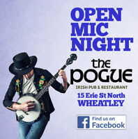 """OPEN MIC NIGHT @ """"The Pogue"""" - Downtown Wheatley"""