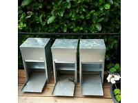 Rat proof galvanised chicken feeders