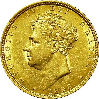 1826. George IV Sovereign, Extremely fine. Marsh 11.