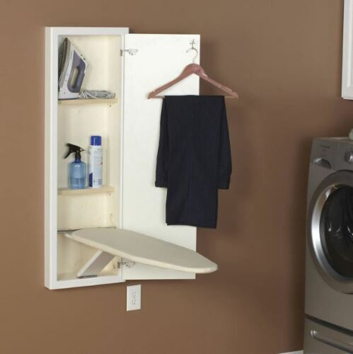 Wall Mount Fold Out Ironing Board Built In Hide Away Stowaway Cabinet Storage