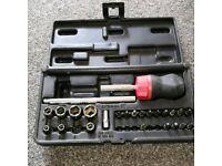 Snap on stubby ratchet screwdriver set