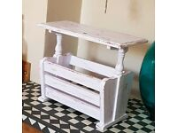 Upcycled/Shabby Chic storage table