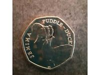 Jamima puddle duck 50p coin