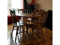Dining Table + 4 Chairs solid wood £35