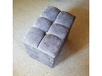 Storage stool in grey chenille brand new in box
