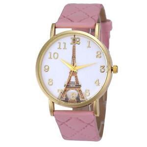 Paris Eiffel Tower Women Faux Leather Analog Quartz Wrist Watch Regina Regina Area image 1