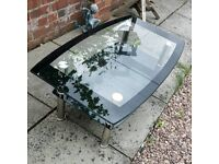 Black Glass Coffee Table 2 Tier