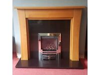 SOLID OAK WOOD FIRE SURROUND