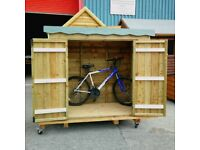 6x3 Bike shed double door