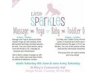 Baby massage and yoga group