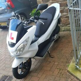 Honda pcx pearl white 8 monts old