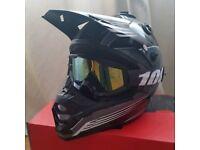 Bell SX-1 M motorbike/motocross helmet + goggles