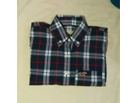 Hollister female XS checked long sleeve shirt