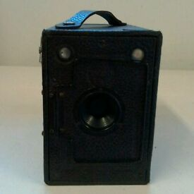 Vintage Houghton Ensign 2 1/4 B. Box film camera 1920'S.