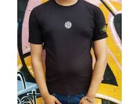 Black stone island t shirt