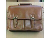 Tan / Brown Leather Satchel