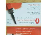 NEW ERA CONSTRUCTION LTD is a hight standarts quality in Painting & Decoration for all general work,