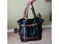 Black n Tan leather bag