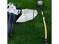 Petrol leaf blower and Strimmer
