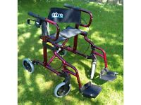 New Labelled Drive Make, Diamond Rollator/ Chair. Strong and easily transportable.
