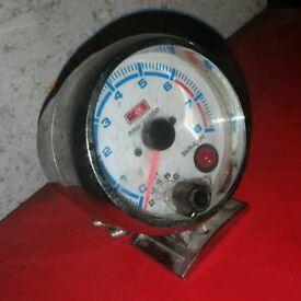Auto Gauge Rev Counter White Faced (RPM Tacho Drag Drift Road Car)