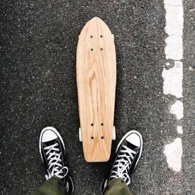Skateboard deck, solid hardwood, classic, retro, cruiser