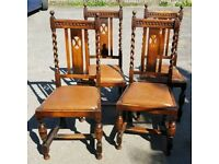Victorian oak chairs