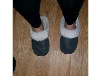 Trashed Private Used Ladies Comfy Worn Slippers Size 7