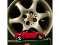 For MGF1.8, 1995, 6 spoke alloy and part worn tyre. Also Corgi 1/18 scale MGF model .