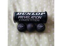 3x Dunlop Revelation Squash Balls