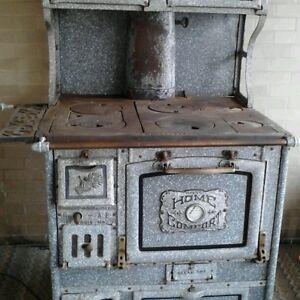 Antique wood burning cook stove ebay - Antique wood burning stove ...
