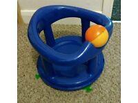 Safety first blue swivel bath chair