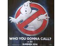 An original Quad uk Ghostbusters 2016 cinema poster