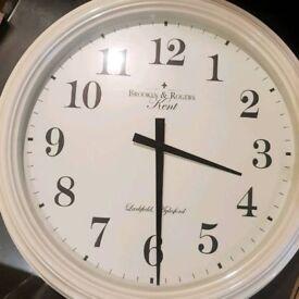 Large cream clock