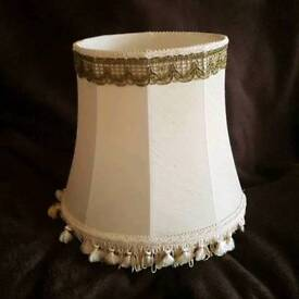 Detailed Cream Victorian-Style Hourglass Lampshade