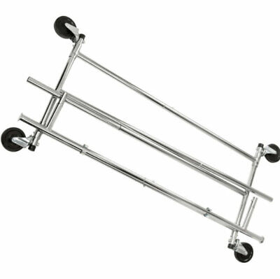 Palm Springs Ca. Pick Up Only Commercial Rolling Rack Chrome Ranas Usa Seller