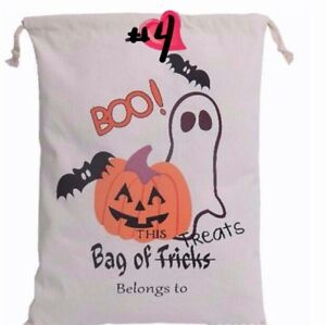 Personalized Halloween Sacs