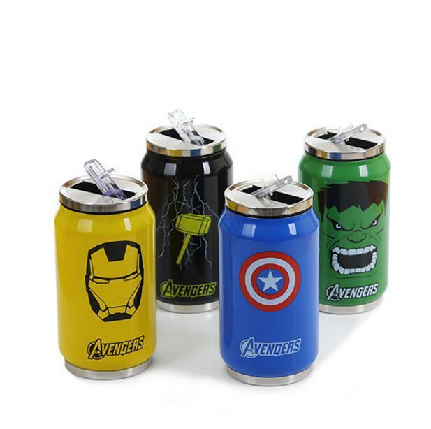 The Avengers Stainless Steel Vacuum Cup Straw Thermos Mug Th